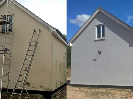 Before and After Exterior Painting Project