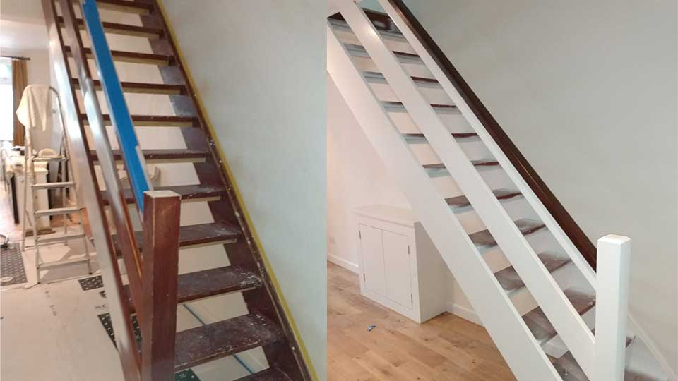Internal Stairs Painted